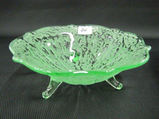"20: Fenton Ming 7"" ftd bowl-green"