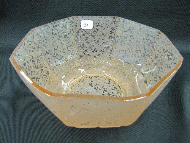 """21: Fenton Ming 9"""" Octagon bowl-pink"""