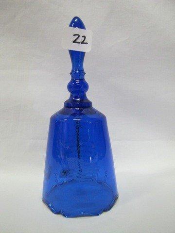 22: FENTON BLUE BELL W/ FLAG
