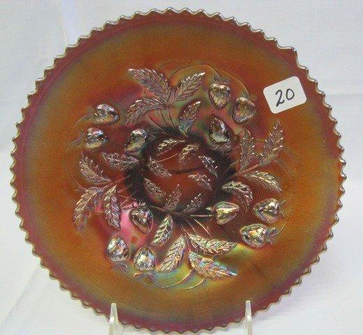 "20: Nwood 9"" purple Strawberry plate"
