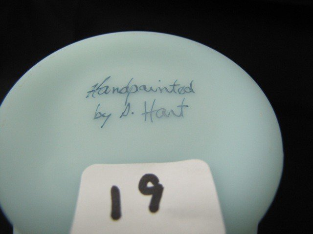 """19: Fenton 6 1/2"""" astors vase"""