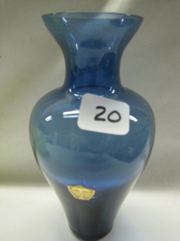 "20: Tiffin glass 7"" vase"