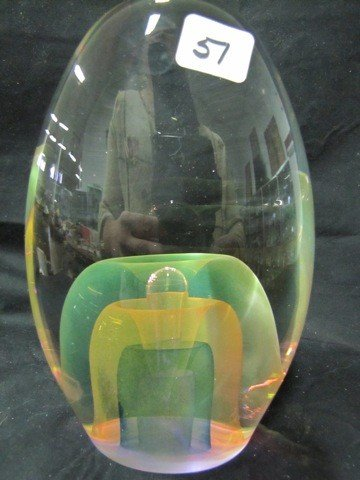 51: Art glass large paperweight
