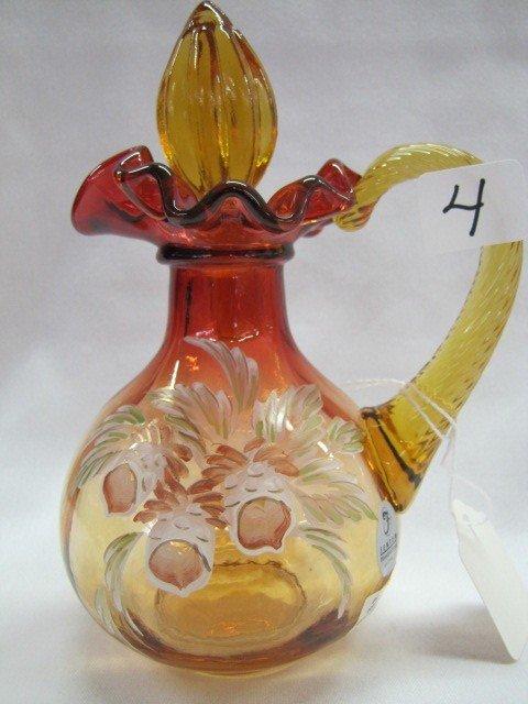 4: Fenton golden amberina cruet