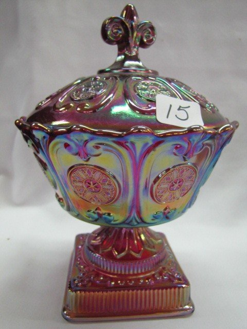 "15: Fenton 8"" Carnival covered candy"