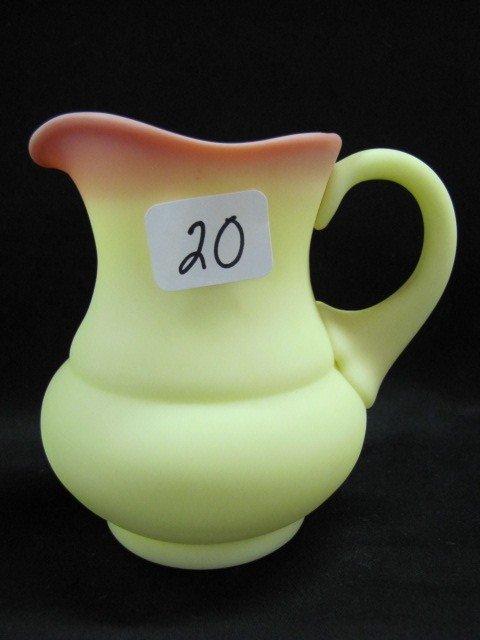 "20: Fenton 4 1/2"" burmese pitcher"