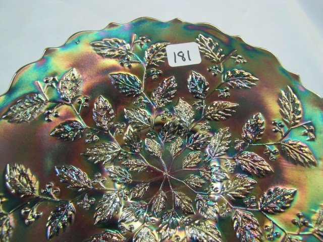 181: Ultra RARE Fenton RED Holly plate. As you know thi