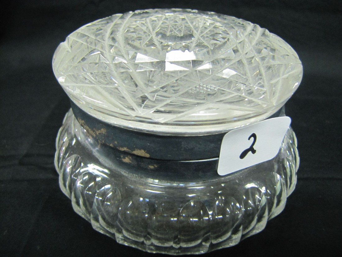 "2: crystal Hobstar 4 1/2"" powder box"