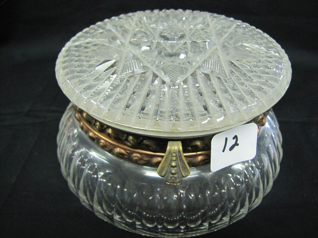 "12: Wavecrest crystal 6"" hinged box"