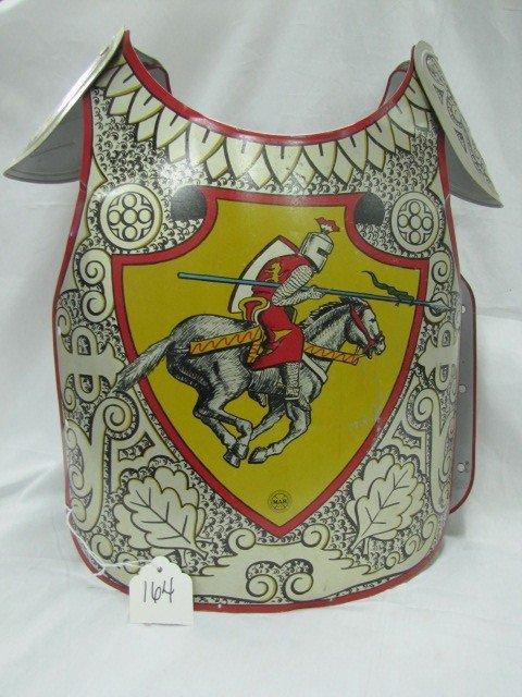 164: Marx toys Tin Knight uniform w/metal sword