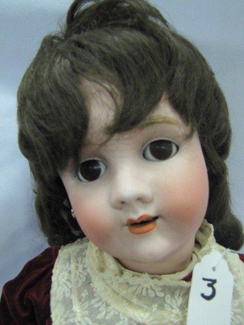 "3: 32"" Handwerck Halberg 6 1/2 porcelain doll"
