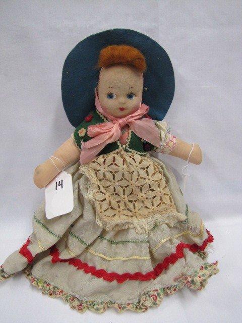 """14: 13"""" Rag doll"""