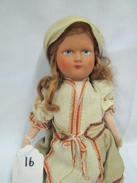 "16: 15"" Lenci Hungarian doll"