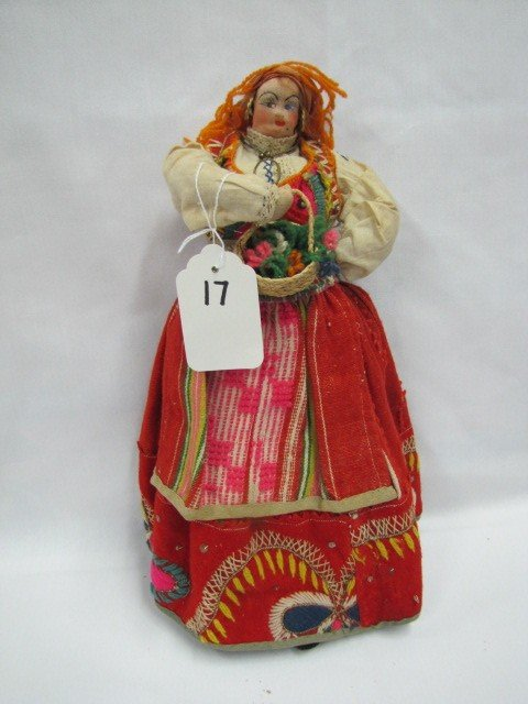 "17: 14"" Hungarian Cloth Doll"