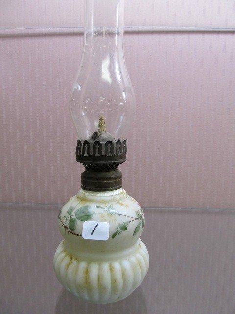 1: Mount Washington Hand Painted Mini Oil Lamp.