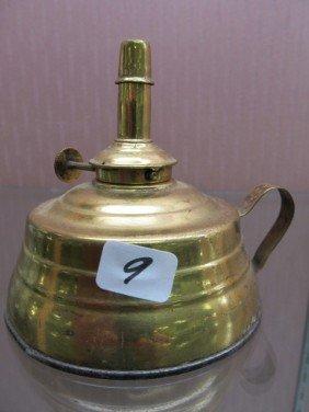 9: Mini Brass Chamber Oil Lamp - Komax