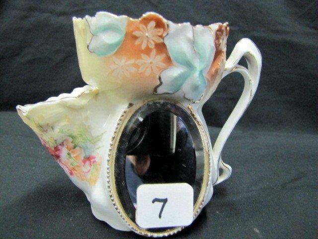 7: UM RSP Iris variation mold floral Scuttle mug