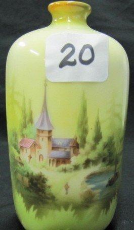 "20: RSP 5"" Castle scene bottle vase"