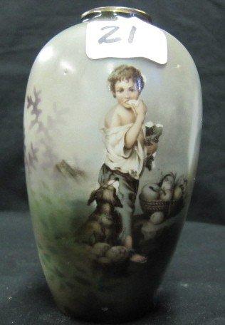 "21: RSP 5"" Melon boy cabinet vase"