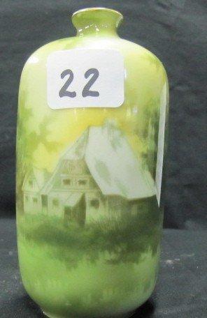 """22: RSG 5"""" scenic bottle vase"""