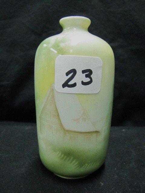 """23: RSG 4.5"""" Scenic bottle vase"""