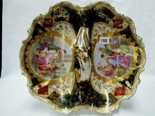 155: Royal Vienna beehive mark portrait divided dish - 2