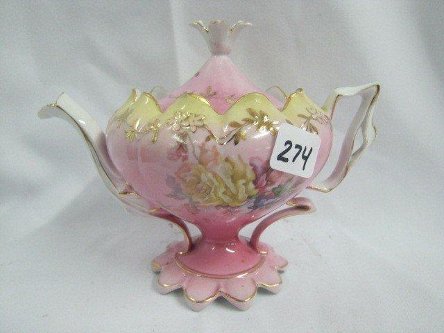 274: UM RSP Floral teapot