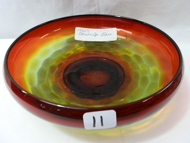 11: Cambridge rubina bowl w/perfect coloration