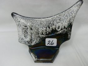 Fenton Black LOGO W/frit For Snow-OOAK