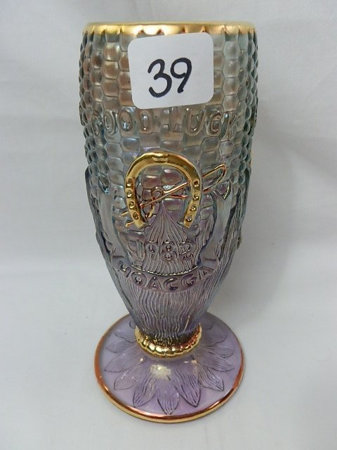39: Fenton lavender HOACGA 1982 Corn vase