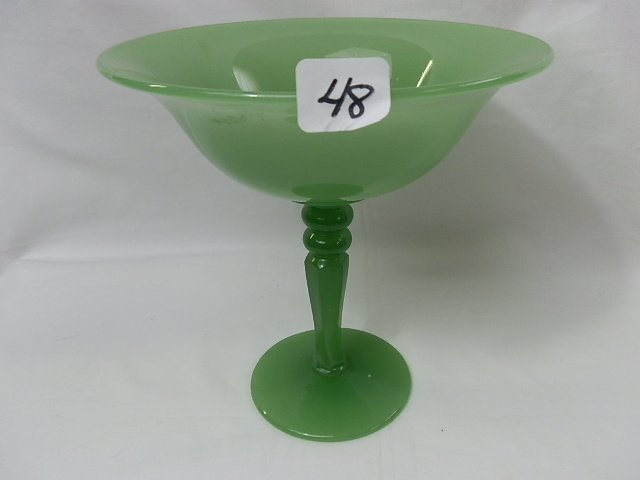 48: Shiney Jade Elegant Depression compote