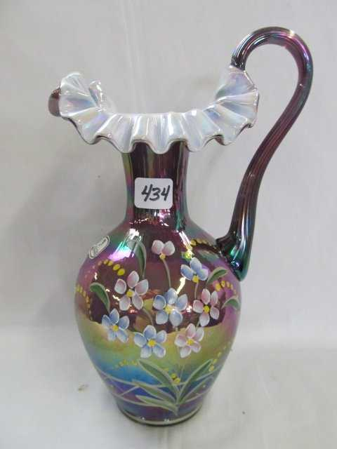 434 Fenton Carnival Vase Commemorating 90 Years Of Iri