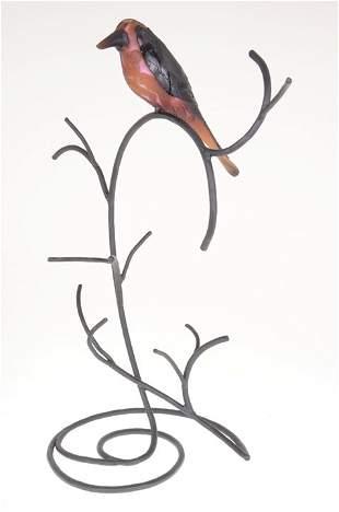 """11: """"A Bird of Boys"""" 10""""x3 3D bird sculptural Super Cam"""