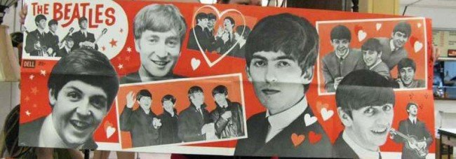 41: Vintage Large Beatles Fold Out Poster ~ Dell
