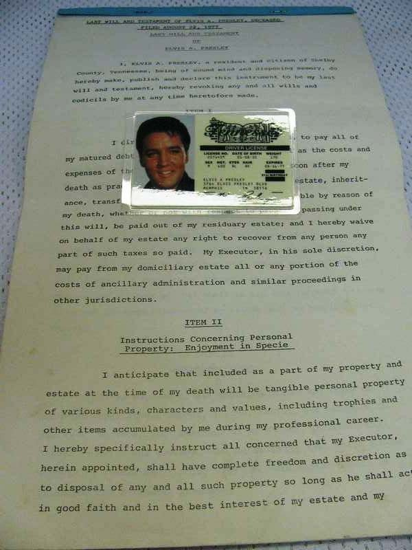 274: Last Will and Testament of Elvis A. Presley (Speci