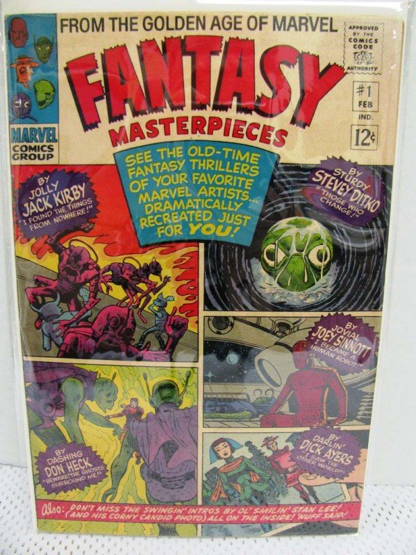 1: 1966 Marvel Comics Fantasy Materpieces #1 ~ 12¢