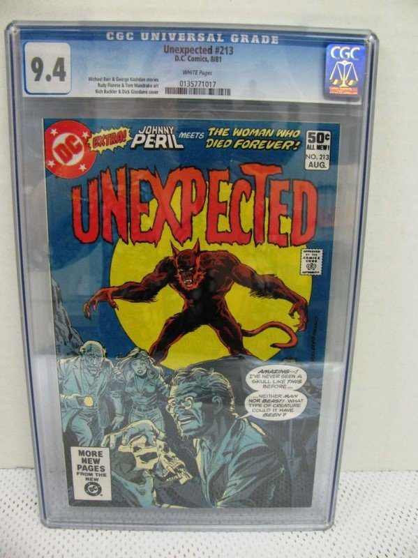 4: CGC Graded/Slabbed ~ DC 1981 UNEXPECTED #213 ~ Grade