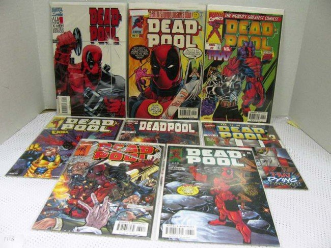 8: 8 Issues Marvel Comics ~ DEAD-POOL ~ Mini Series #1