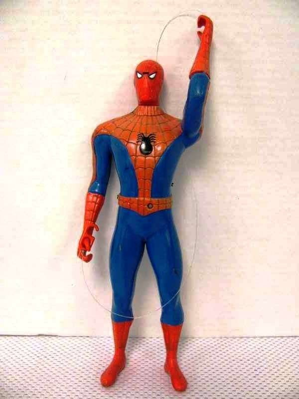 11: 1998 Remco Spiderman Action Figure ~ Missing Batter