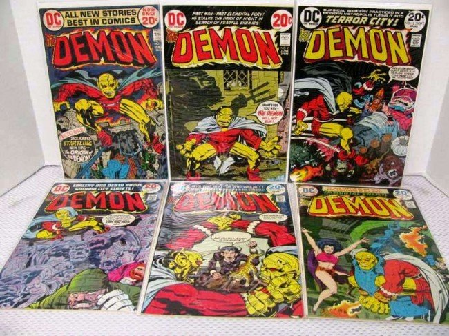 22: 6 Issues ~ The Demon ~ #'s 1, 9, 12, 13, 15, 16 ~ J