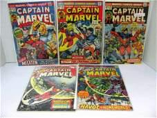 322 5 Issues Captain Marvel Comics Bronze Age  22