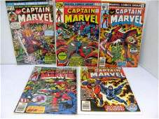 323 5 Issues Captain Marvel Comics Bronze Age  42