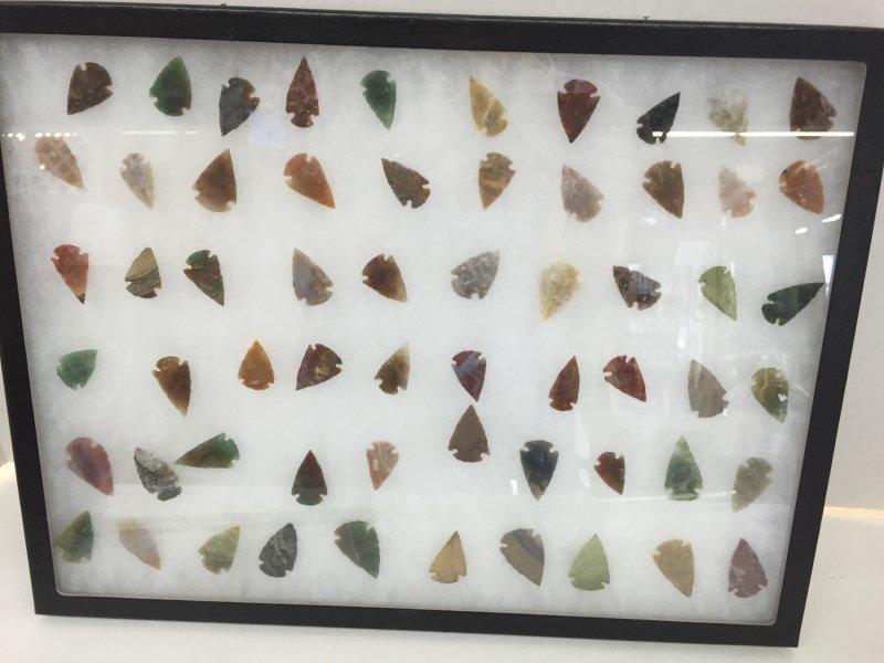 Lot of 60 Arrowheads In Ryker Case