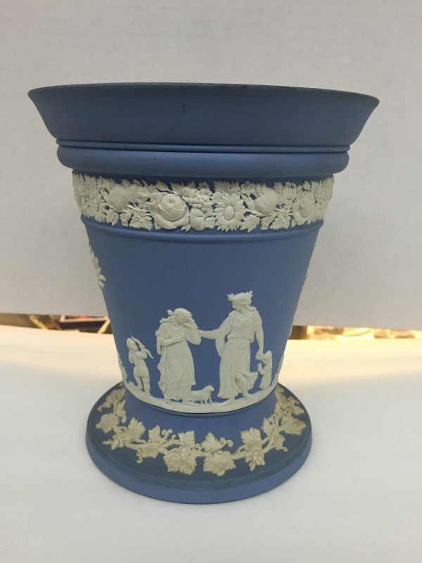 Vintage Wedgwood Vase w/Flower Frog Insert
