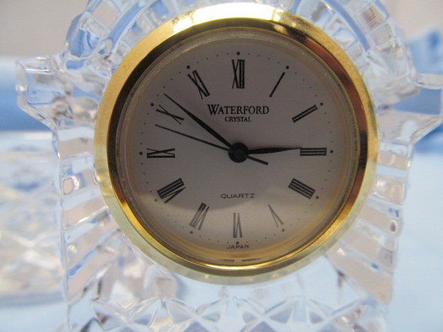 3 Pieces Signed Waterford Crystal ~ Ring Holder / Clock - 2