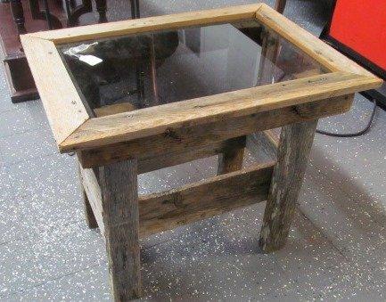 Vintage Barnwood Table 17x22x19