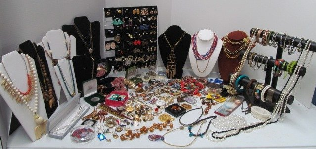Extremely HUGE Lot of Estate Costume Jewelry