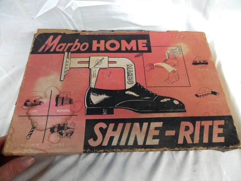 Vintage Marbo Home Shine - Rite Wall Mount Shoe Shine