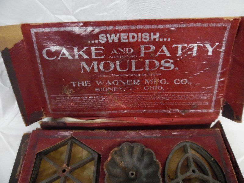 Vintage Wagner Ware Cake & Patty Moulds In Original Box - 5