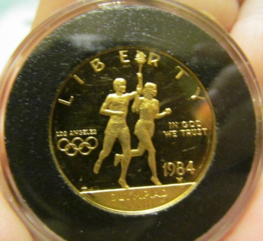 1984-W $10 Ten Dollar Gold Olympic Commemorative